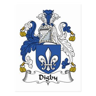 Escudo de la familia de Digby Tarjeta Postal