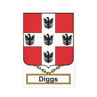 Escudo de la familia de Diggs Lienzo Envuelto Para Galerias