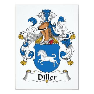 """Escudo de la familia de Diller Invitación 6.5"""" X 8.75"""""""