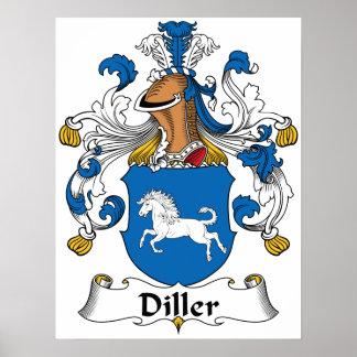 Escudo de la familia de Diller Posters