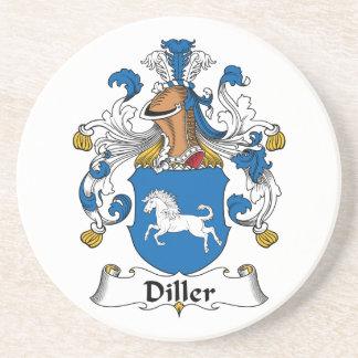 Escudo de la familia de Diller Posavasos Personalizados