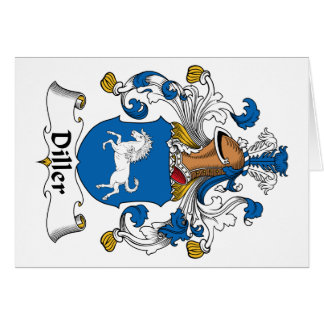 Escudo de la familia de Diller Tarjeta De Felicitación