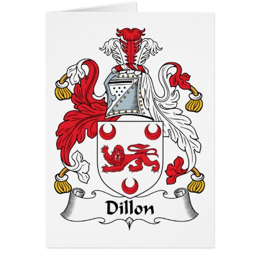 Escudo de la familia de Dillon Felicitación