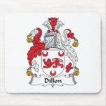 Escudo de la familia de Dillon Tapete De Ratones