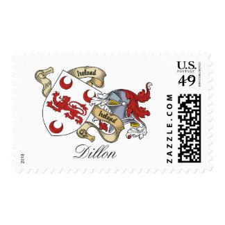 Escudo de la familia de Dillon Timbre Postal