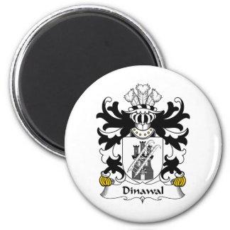 Escudo de la familia de Dinawal Imán Redondo 5 Cm