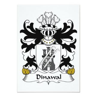 """Escudo de la familia de Dinawal Invitación 5"""" X 7"""""""