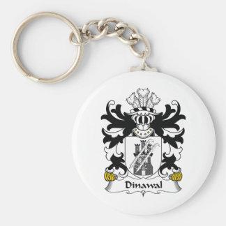 Escudo de la familia de Dinawal Llavero Redondo Tipo Pin