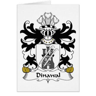 Escudo de la familia de Dinawal Tarjeta De Felicitación