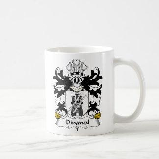 Escudo de la familia de Dinawal Taza Básica Blanca