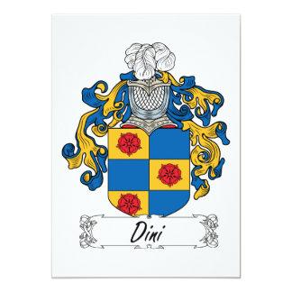 """Escudo de la familia de Dini Invitación 5"""" X 7"""""""