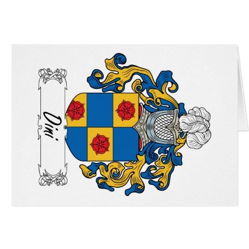 Escudo de la familia de Dini Tarjetas