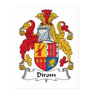 Escudo de la familia de Dirom Tarjetas Postales