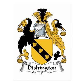 Escudo de la familia de Dishington Tarjetas Postales