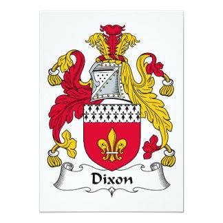 """Escudo de la familia de Dixon Invitación 5"""" X 7"""""""