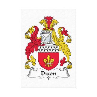 Escudo de la familia de Dixon Lienzo Envuelto Para Galerias