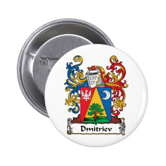 Escudo de la familia de Dmitriev Pin Redondo 5 Cm