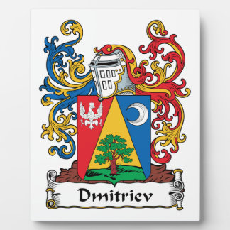 Escudo de la familia de Dmitriev Placa De Madera