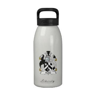 Escudo de la familia de Dobb Botellas De Agua Reutilizables