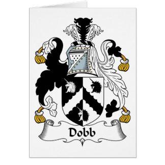 Escudo de la familia de Dobb Felicitación