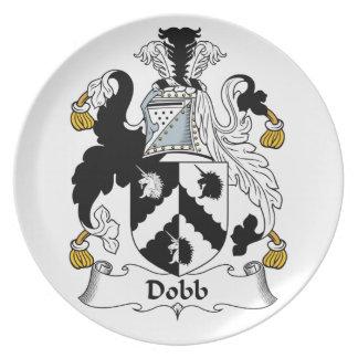 Escudo de la familia de Dobb Plato De Comida