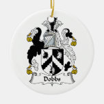 Escudo de la familia de Dobbs Ornamento Para Reyes Magos