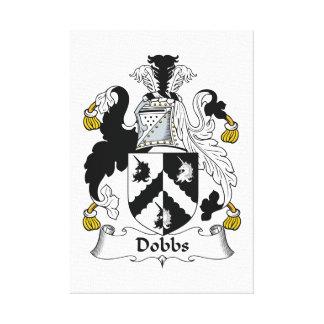 Escudo de la familia de Dobbs Lona Estirada Galerías
