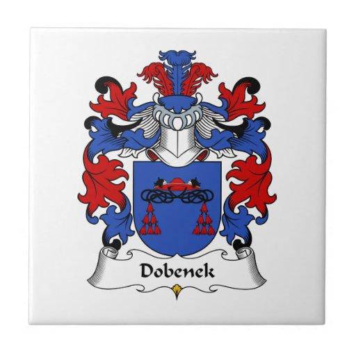 Escudo de la familia de Dobenek Azulejo Cuadrado Pequeño