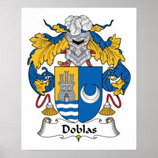 Escudo de la familia de Doblas Poster