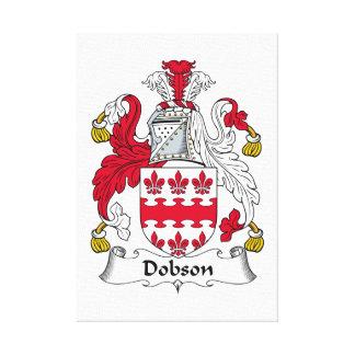 Escudo de la familia de Dobson Lona Envuelta Para Galerías
