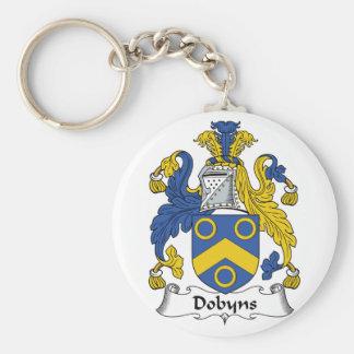 Escudo de la familia de Dobyns Llavero Redondo Tipo Pin