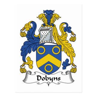Escudo de la familia de Dobyns Tarjeta Postal