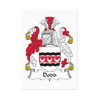 Escudo de la familia de Dodd Impresión En Lona Estirada