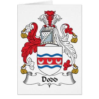 Escudo de la familia de Dodd Tarjeta De Felicitación