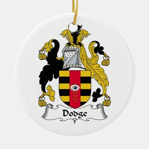 Escudo de la familia de Dodge Ornamento De Reyes Magos