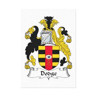 Escudo de la familia de Dodge Impresión En Lona