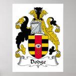 Escudo de la familia de Dodge Impresiones