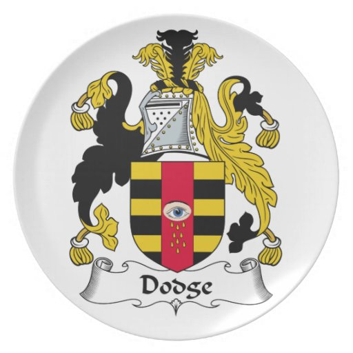 Escudo de la familia de Dodge Platos De Comidas