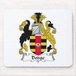 Escudo de la familia de Dodge Tapetes De Ratones