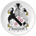 Escudo de la familia de Dodsworth Platos De Cerámica