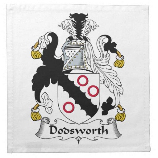 Escudo de la familia de Dodsworth Servilletas Imprimidas