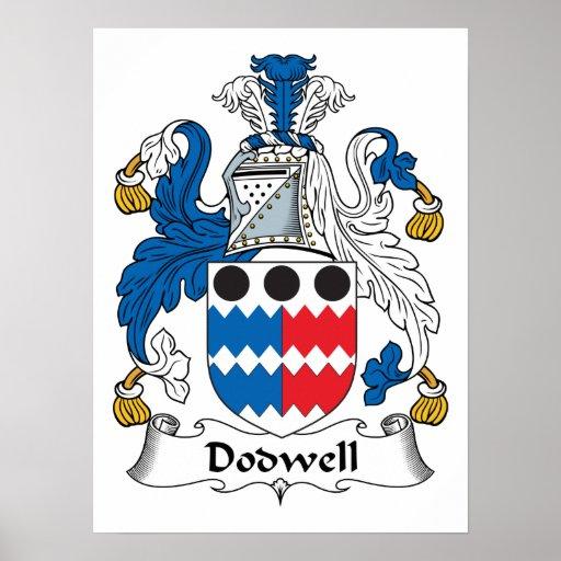 Escudo de la familia de Dodwell Posters