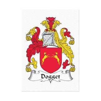Escudo de la familia de Dogget Impresiones En Lienzo Estiradas
