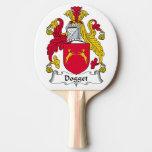 Escudo de la familia de Dogget Pala De Tenis De Mesa