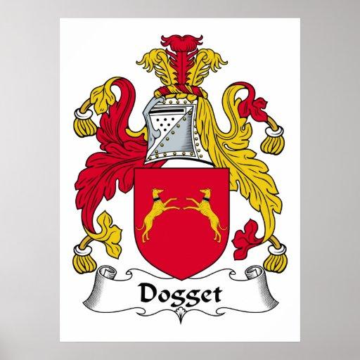 Escudo de la familia de Dogget Posters