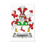 Escudo de la familia de Doherty Lona Envuelta Para Galerías