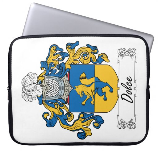 Escudo de la familia de Dolce Funda Portátil