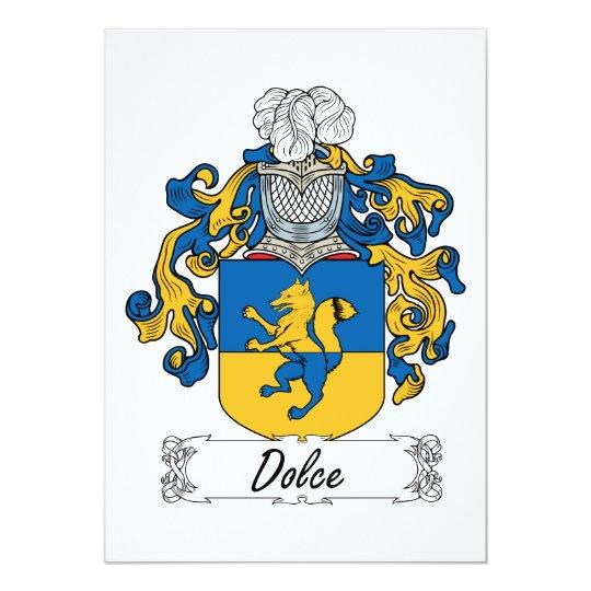 """Escudo de la familia de Dolce Invitación 5"""" X 7"""""""