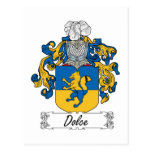 Escudo de la familia de Dolce Tarjetas Postales