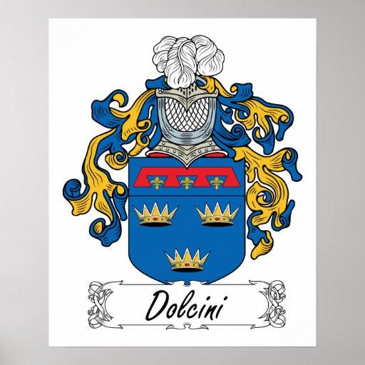 Escudo de la familia de Dolcini Poster